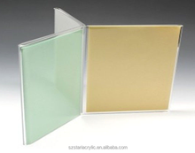 Six Sided Clear Acrylic Table Menu Holder A4 Paper Inserted for Restaurant