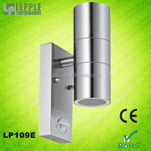 CE and ROHS approval outdoor stainless steel 201/304/316 up and down wall mounted sensor light