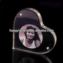Heart Shape Acrylic Magnetic Photo Frames 3R 4R 5R Customized