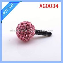 beads handphone dustproof cover plug China Supplier