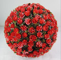30CM Red Plastic Artificial Hanging Flower Ball Decorative Rose Ball