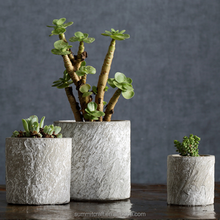 Home goods artificial stone cement cup shaped flower pots