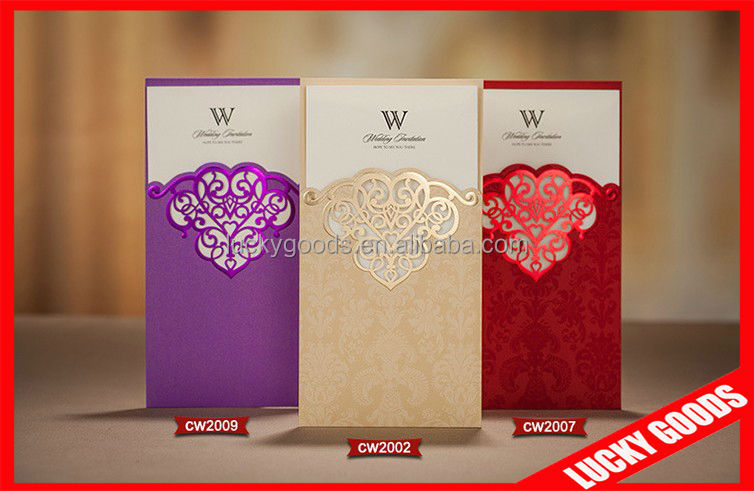 cheap new style wedding invitation cards models