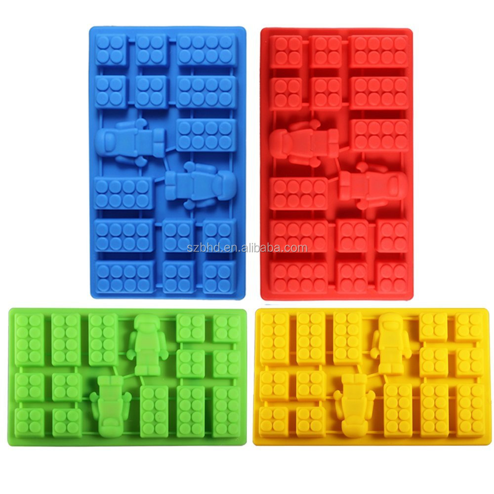 Hot!New arrival Candy Molds & Silicone Ice Cube Tray, Building Blocks, Jello and Toy Figures - Chocolate & Strawberry Cand