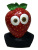 Genuine Overhead Latex Funny Fruit Costume Accessory strawberry Mask
