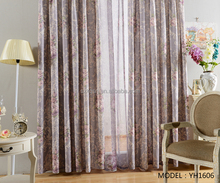 Customized modern flower large print curtains for sale