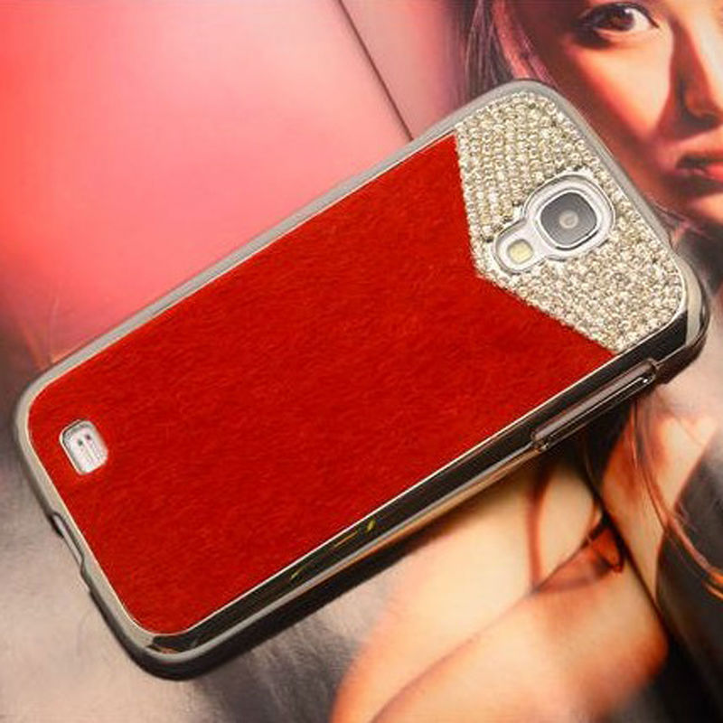 High quality diamond PU leather back cover case for Samsung galaxy S4 i9500,wholesale China mobile phone case