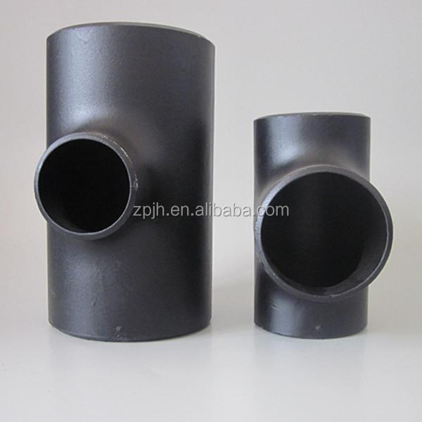 New goos butt weld carbon steel black steel pipe reducing tee