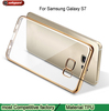 electro-plated case ultra thin transparent and Clear Plating soft TPU Case For Samsung S7 Back Cover