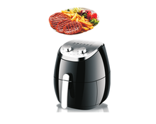 mini electrical hot air fryer 3 litres with stainless steel top cover