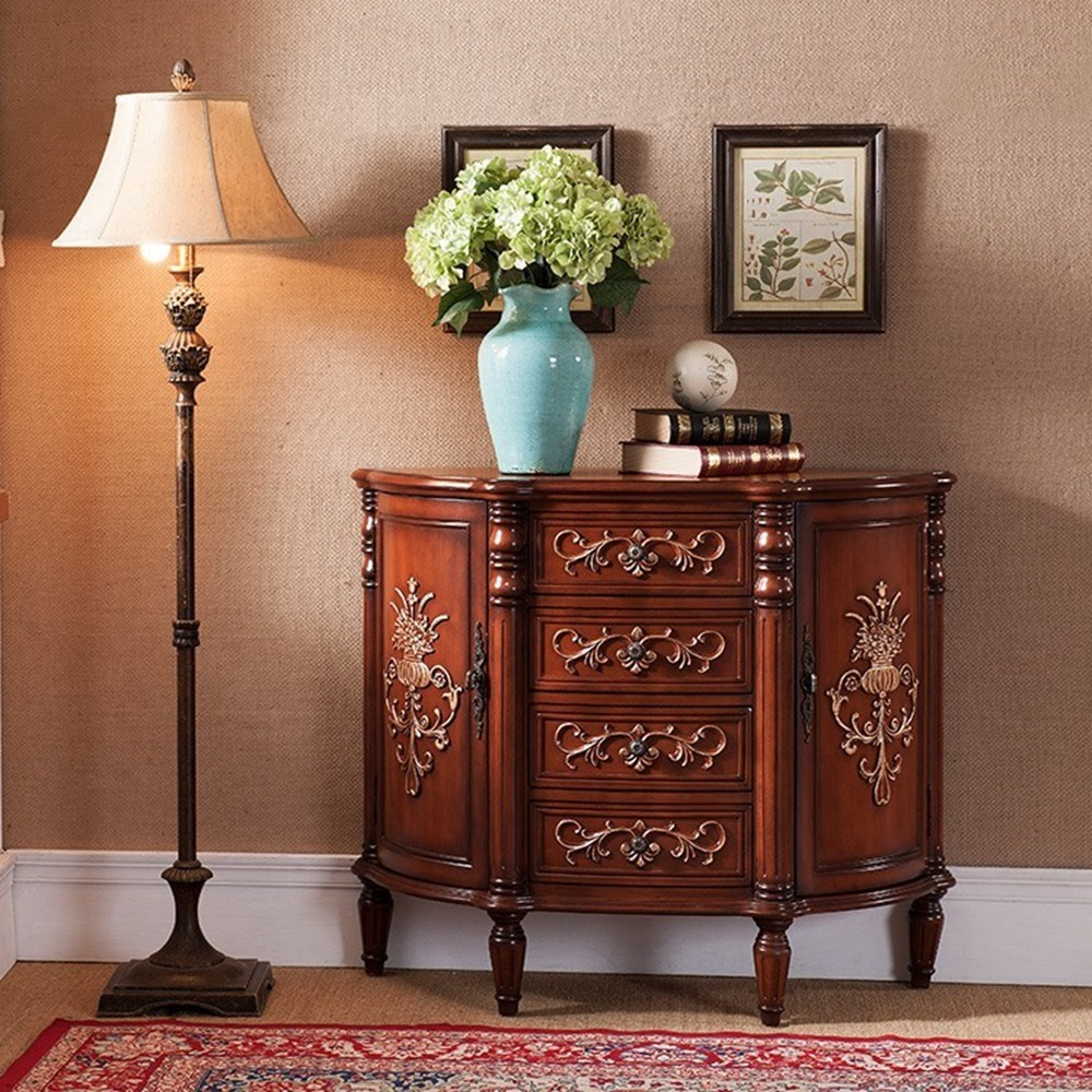 Living Room Side Cabinet antique Buffets Sideboard Cabinet