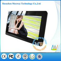 narrow frame 7 inch black digital photo frame