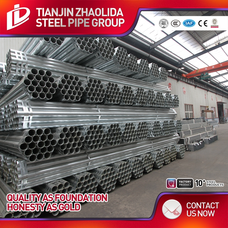 galvanized erw round pre galvanized pipe / tube build materials made in China
