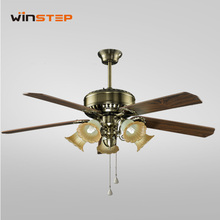 56 inch copper plywood decorative lighting ceiling fan