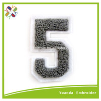 Embroidered letters and numbers embellished appliques and custom patches designs