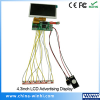 Auto-play Auto turn on/off mini usb monitor lcd 4.3 inch tft lcd module