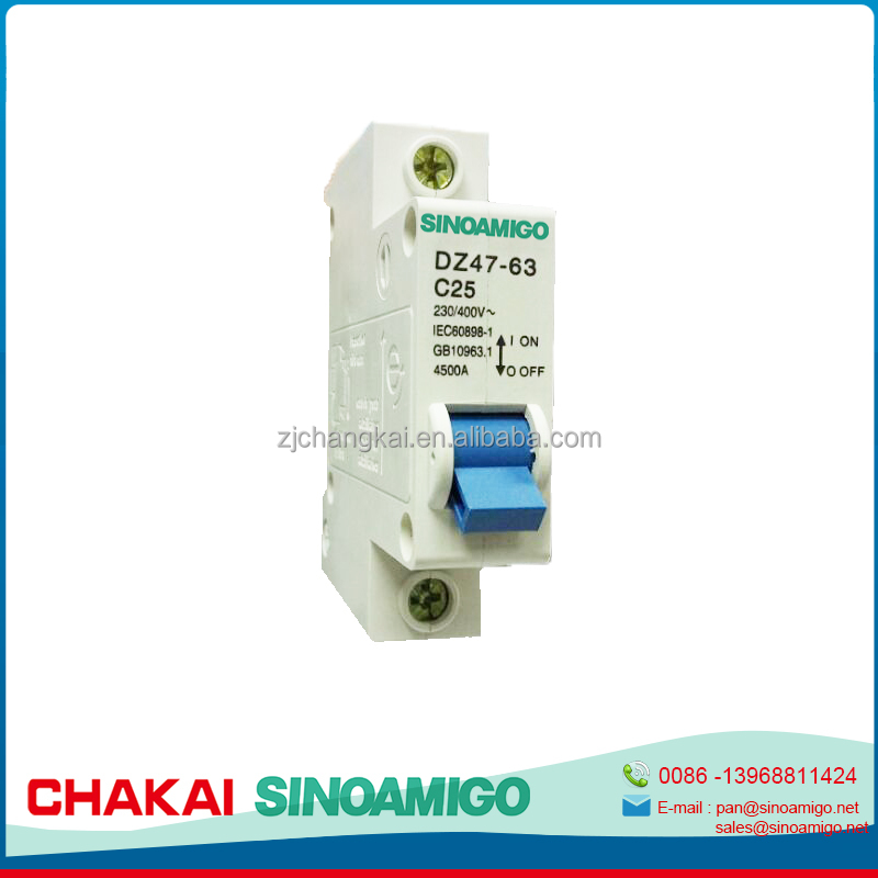China's fastest growing factory best quality DZ47 Miniature Circuit Breaker,dz47-63 circuit breaker