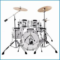 professional crystal color Acrylic shell drum kit,1.5mm hoops drum set for stage,transparent shell 5-pc drum set