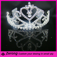 New arrival fashion pageant rhinestone child crown