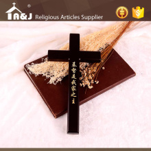 A&J One-stop solution fancy christian cross,One-stop solution holy plain wooden cross,gold carved wood cross embellishment.