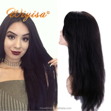 Wholesale price glueless natural hairline full lace wig,100% real human hair silky straight wig manufacturer
