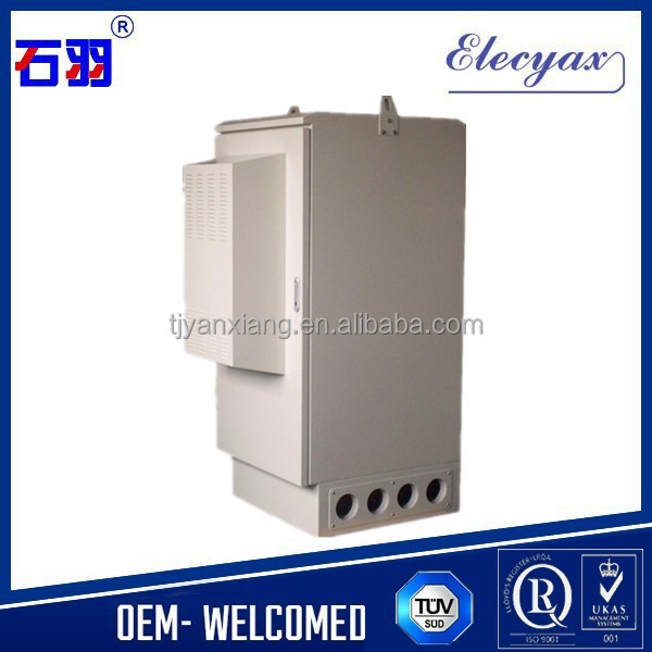 Aluminum outdoor communication enclosure with temperature control/hot selling equipment metal case with lock and full accessory