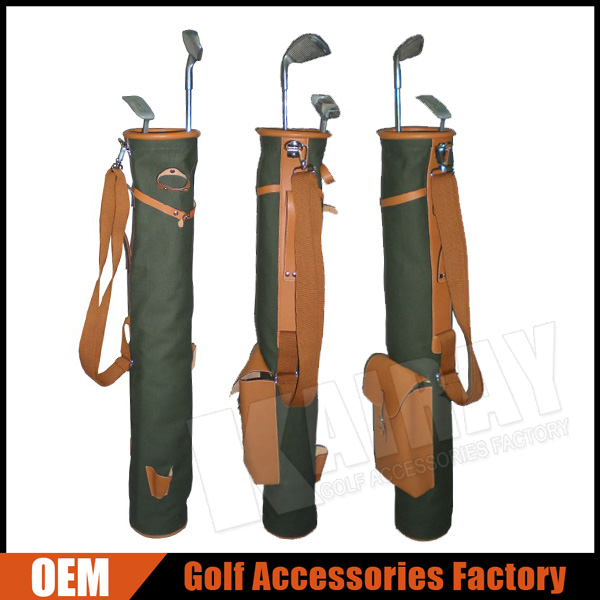 Factory Custom Sunday Leather Golf Bag, Canvas / Leather Pencil Golf Bags