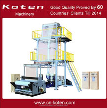 Double Layer Polyethylene Extrusion Rotary Head Film Blowing Machine
