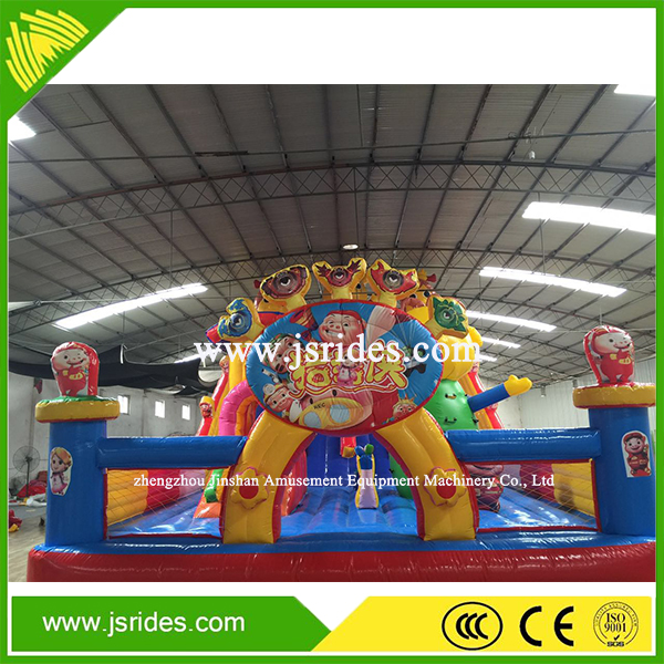 Cartoon customized inflatable bounce inflatable castle for fun