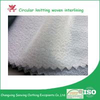cheap good quality circular knitted woven interlining fabrics for jackets