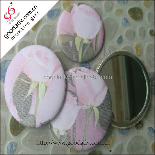 new designed cute round tin wholesale compact mirror / metal compact mirror