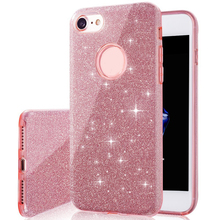 TPU PC shiny hard cell phone case cover for iphone 7