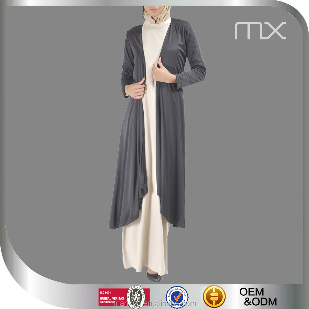 2016 Everyday Muslim Tops For Ladies Front Open Coat Cheap Abaya For Sale