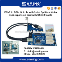 PCI Express 1X To 3 Slots