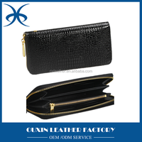 Fancy design women party wallet black leather material mini handbag china leather factory promotion wholesale price