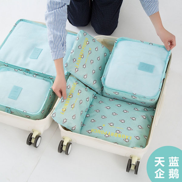 Korea Travel Pouch Travel Luggage sets organizer travel bags cubes Men and women