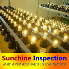 Inspection company in guangzhou zhongshan/quality inspector for LED products