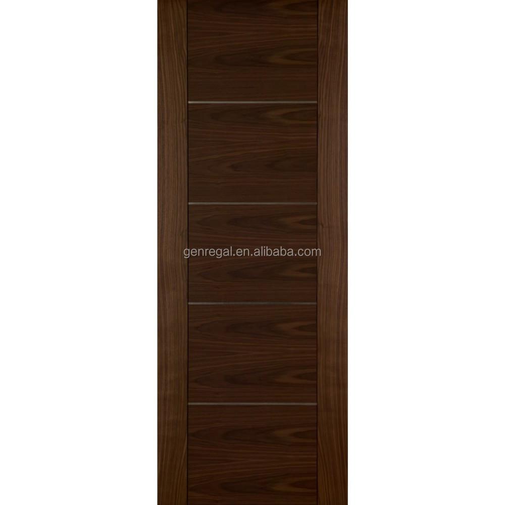Ce bedroom flush walnut veneer wood doors interior buy for Flush interior wood doors