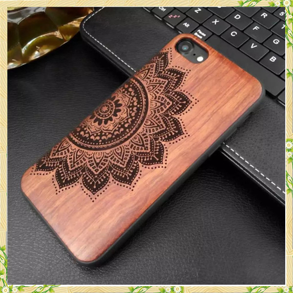 New style soft TPU wood mobile phone cover for iphone 7