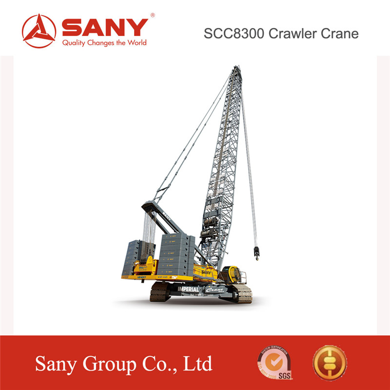 SANY Official Manufacturer SCC8300 600Ton Hoisting Machinery Hydraulic Crawler Crane