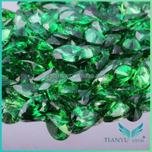 Pear Cut Cubic Zirconia Green Cubic Zircon Stones Prices