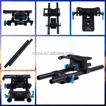 "FOTGA DP500IIS quick-release DSLR 15mm rod rail support cheese base plate baseplate rig for follow focus w/ 1/4"" 3/8"" holes"