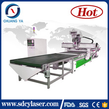 cheap multi tools wooden door cutting machine full automatic cnc router production line with drill