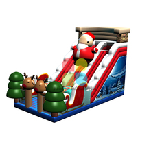 New style inflatables slide and inflatables chrismas slide for present and decoration.