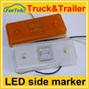 Factory price 24v side marker light auto led side lamp for truck indicator lighting long warranty