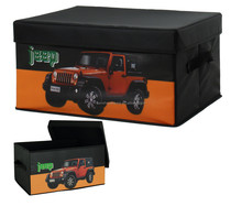 Collapsible Fabric Storage Car Box Clothing Box with Lid