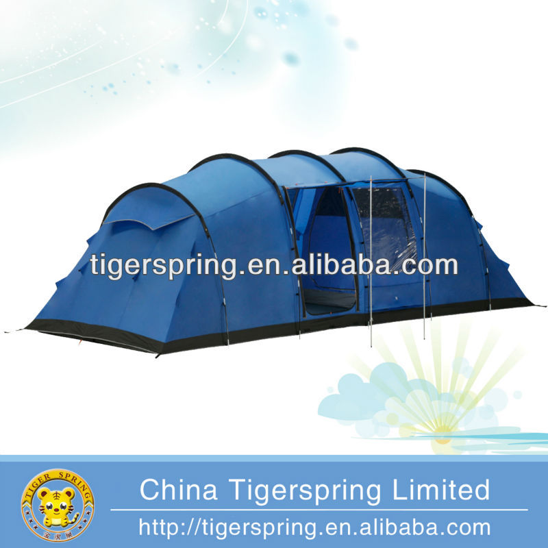 quality hot selling 8-10 person waterproof camping tube tent