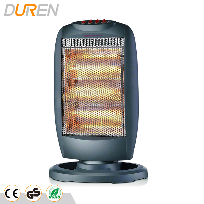 DUREN 1200W with wide angle oscillating function new electric halogen lamp <strong>heater</strong>