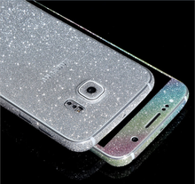 Full Body Wrap Decal Glitter Sticker Skin Cell Phone Cases Cover For Samsung S5/S6/S6 Edge/S7/S7 Edge