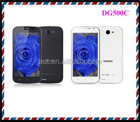 New arrival Doogee DG500C quad core MTK 6582 android mobile phone quad core unlocked cell phone